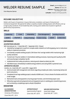 resume skils welder welder resume exle writing tips resume genius