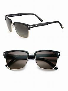 tom ford river 57mm square sunglasses in black for lyst