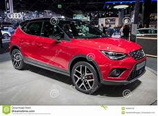 new seat arona compact suv car editorial photography
