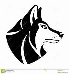 symbole principal de loup illustration de vecteur