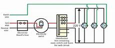 draw a schematic labelled diagram of a domestic wiring circuit which includes 1 a main fuse 2 a
