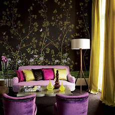 black and purple living room home quotes theme design purple and gold color combination