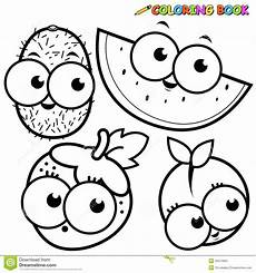 coloring book page fruit kiwi watermelon strawberry