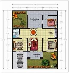 8 Contoh Denah Rumah Minimalis 1 Lantai 3 Kamar Desain