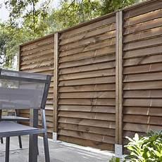 brise vue persienne bois kit panneau persienn 233 bois naturel l 120 x h 240 cm x ep