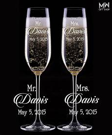 Custom Wedding Chagne Glasses Engraved Chagne Flutes