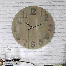 large wooden industrial style wall clock windsor browne