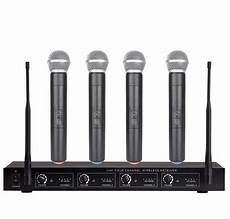 cordless microphone system 4 channel uhf wireless cordless microphone system brand new four handheld ebay