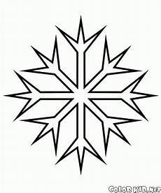 Malvorlagen Schneeflocken Ausdrucken Coloring Page The Most Common Snowflake