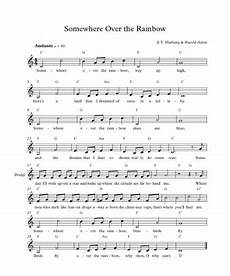 free sheet music for piano somewhere over the rainbow best music sheet
