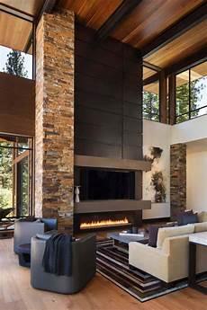 Kaminofen Design Modern - fabulous mountain modern retreat in the high sierras