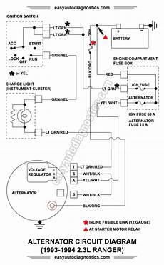 1993 4 0l jeep alternator wiring diagram part 2 1992 1994 2 3l ford ranger alternator wiring diagram
