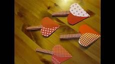 basteln mit papier herztasche basteln bastelideen