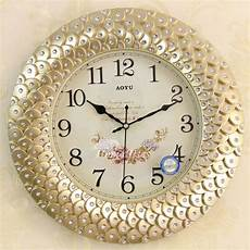 gold wall clock silent 16 inch large analog decorative