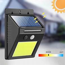 outdoor solar 48led cob smart ir motion sensor wall light infrared human induction