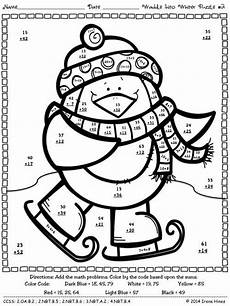 addition color by number math worksheets math