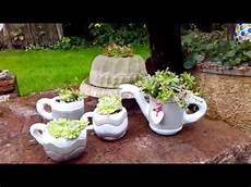beton deko kanne zum bepflanzen