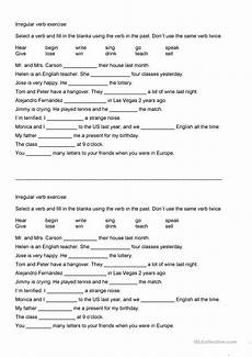 verb exercises for beginners 19150 irregular verbs exercise and reading worksheet free esl printable worksheets made by teachers