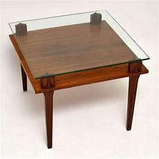 retro teak glass coffee table vintage 1960 s