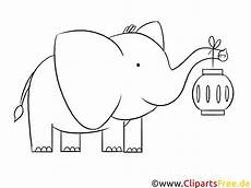 Ausmalbilder Elefant Gratis Elefant Mit Laterne Ausmalbild Zum Runterladen Und Drucken