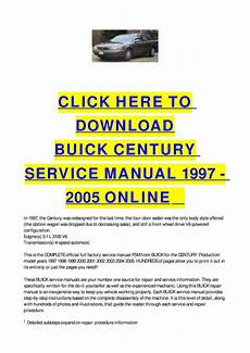 service manuals schematics 1997 buick century security system buick century service manual 1997 2005 online by cycle soft issuu