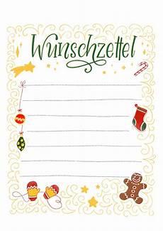 Malvorlagen Weihnachten Wunschzettel Wunschzettel Vorlage Zum Ausdrucken Kostenloses Freebie