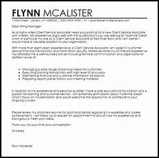 client service associate cover letter sle cover letter templates exles