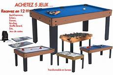 table multi jeux grande taille table multi jeux 12 en 1 billard baby foot air hockey ping