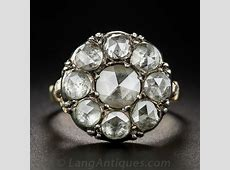 Rose Cut Diamond Cluster Ring