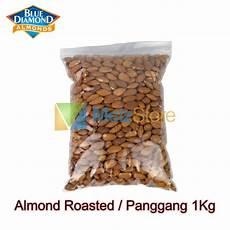 kacang almond panggang kupas blue diamond roasted 1kg shopee indonesia