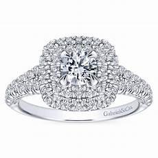 swag wedding rings white gold 14k white gold double halo engagement sayido