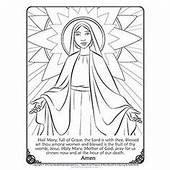 Our Lady On Pinterest  Blessed Mother Hail Mary And