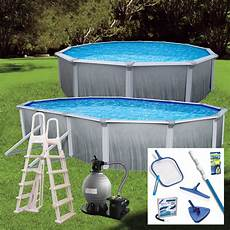 Blue Wave Martinique 52 Quot Steel Wall Above Ground Pool Package