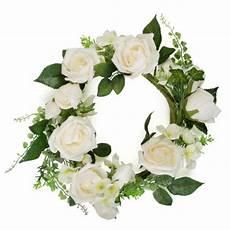 couronne de fleurs blanches d 30 cm