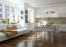 Wohnzimmer Mit Offener Küche - offene l f 246 rmige wohnk 252 che mit gro 223 em essbereich offene
