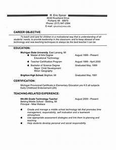 elementary school teacher resume objective templates at allbusinesstemplates com