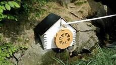 Modell Wasserrad Historisch Mit Radnabendynamo Fuer Led
