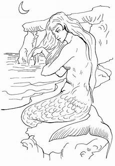 free printable mermaid coloring pages for