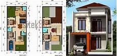 Denah Rumah Minimalis 2 Lantai Ukuran 8x12 Dengan Gambar