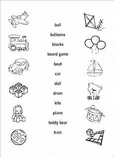 worksheets colors and toys 12707 toys vocabulary for learning matching