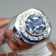 Batu Cincin Permata Blue Safir Ceylon Srilangka Asli Kode