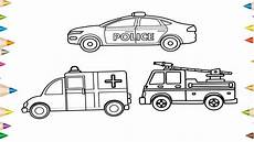 how to draw a car truck ambulance