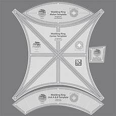 creative grids double wedding ring template 4 pieces new in package melon ebay
