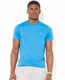 polo ralph jersey performance t shirt in blue