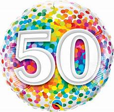 50th Birthday Confetti Design Foil Balloon
