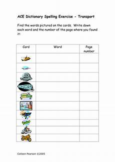 ace spelling dictionary worksheets 22366 ace spelling dictionary exercises sen by colleenpearson teaching resources tes