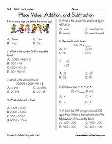 place value addition and subtraction 2nd 3rd grade worksheet lesson planet