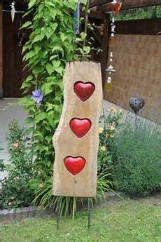 Holzstele Mit Keramik Als Raumteiler Oder Als Tolles