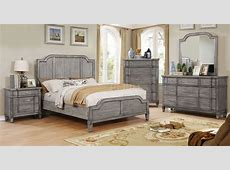 Ganymede CM7855 Bedroom in Rustic Weathered Gray w/Options