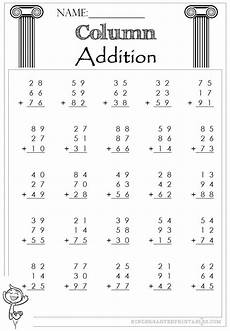 estimation worksheets 8245 two digit column addition 3 addends worksheet column addition 2 digit 3 addends addition